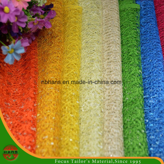 High Quality Embroidery Polyester Fabric (HSHY-1703)