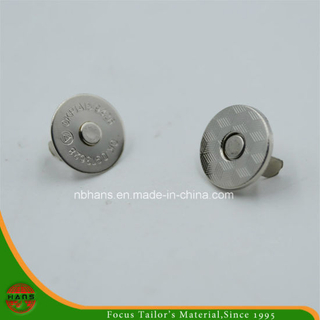 18mm Silver Round Magnet Button for Handbag (HAWM1650I0010)