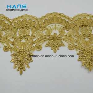 2018 New Design Embroidery Lace on Organza (HC-1840)