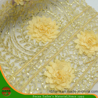 Embroidery Polyester Fabric with Stone (HAEF160007)