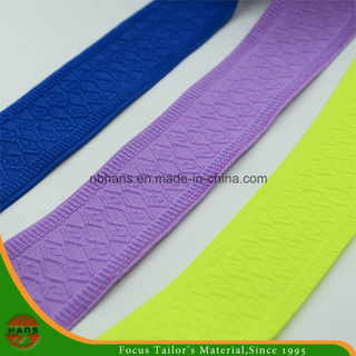 Nylon Jacquard Knitting Elastic Webbing Without Hole