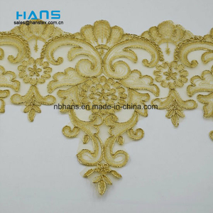 2018 New Design Embroidery Lace on Organza (HC-1845)