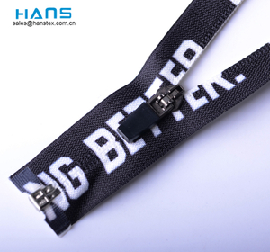 Hans Factory Customized Strong Open End Waterproof Zipper