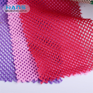 Hans Accept Custom High Strength Fancy 100% Polyester Mesh Fabric