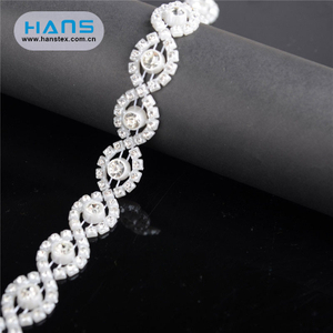 Hans Free Design Logo Luxurious Rhinestone Belt for Wedding Dress