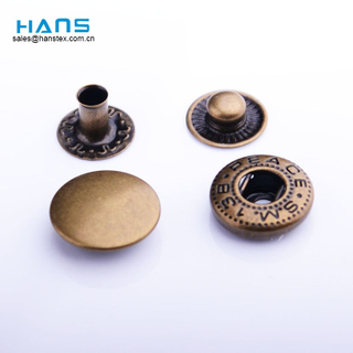 Hans China Manufacturer Wholesale Custom Colored Snap Button 10mm