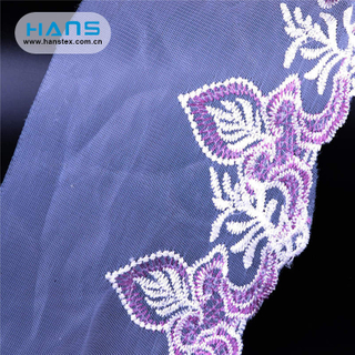 Hans Wholesale China Beige Korea Lace Fabric