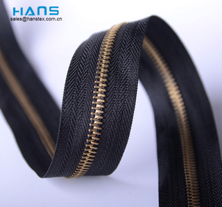 Hans Most Popular Colorful Brass 5 Metal Zipper Roll