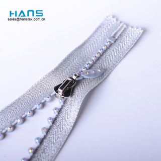 Hans Most Popular and Hot Colorful Stone Zipper