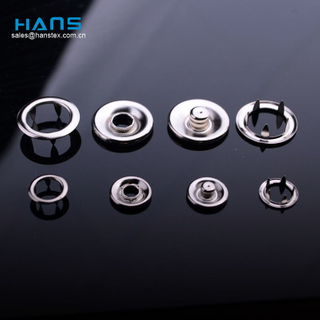 Hans Made in China Fashionable Paint Prong Ring Snap Button