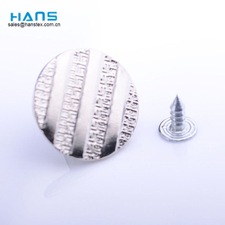 Hans Newest Arrival Lucky Silver Jeans Button