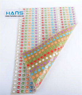 Hans ODM/OEM Design Multi Size Hot Fix Rhinestone Sheet