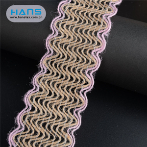 Hans China Supplier Garment Accessories Custom Printed Burlap Ribbon