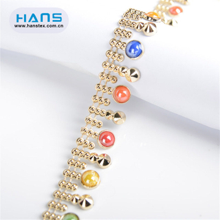 Hans Hot Sale Multi Size Rhinestone Beaded Trim