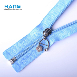 Hans Customized Logo Colorful Nylon Coil Zipper