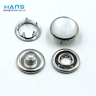 Hans Manufacturers in China Fashion Pearl Prong Snap Button