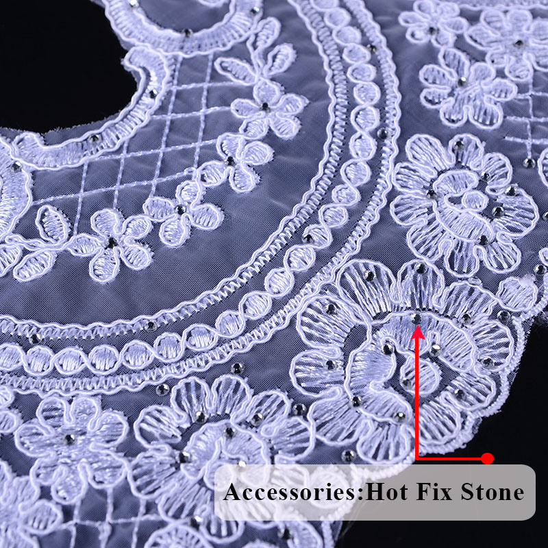 Hans Factory Customized Exquisite Guipure Lace Fabric Embroidery