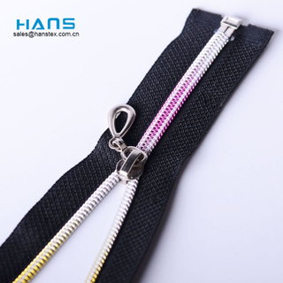 Hans Custom Manufactured High Strength Rainbow Zipper
