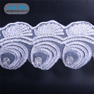 Hans Wholesale China Decoration Beaded Lace