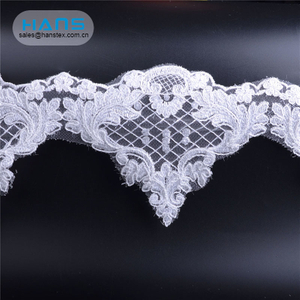 Hans Fast Delivery White Lace Embroidery Stone