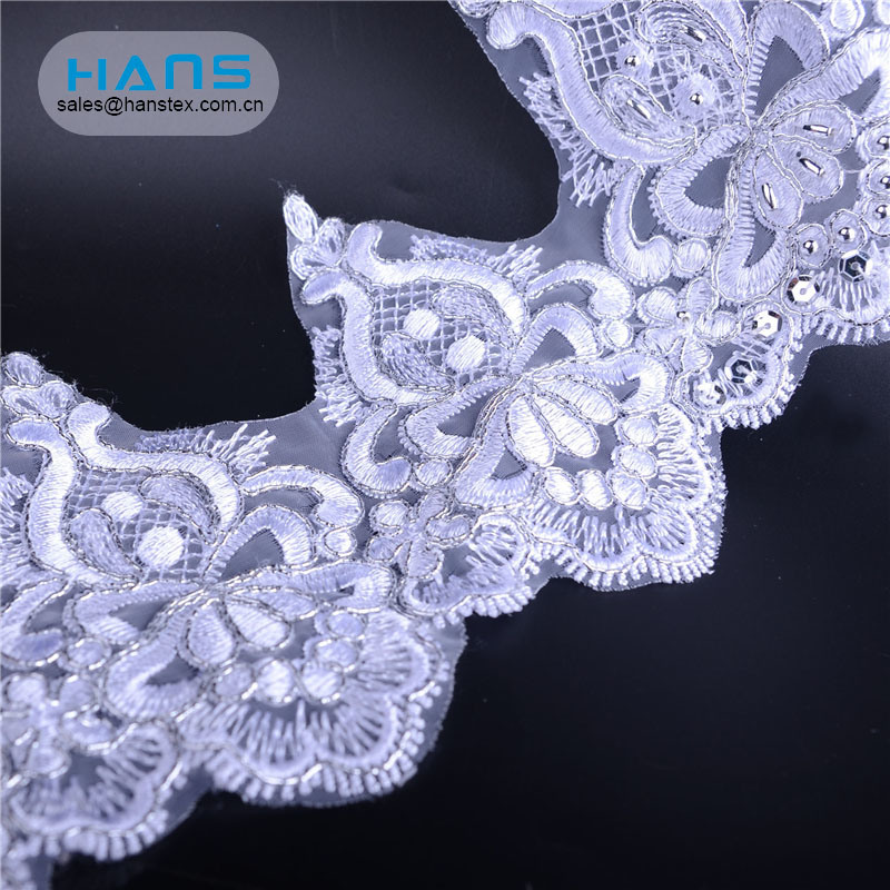 Hans Hot Sale Dress Lace Embroidery Fabrics