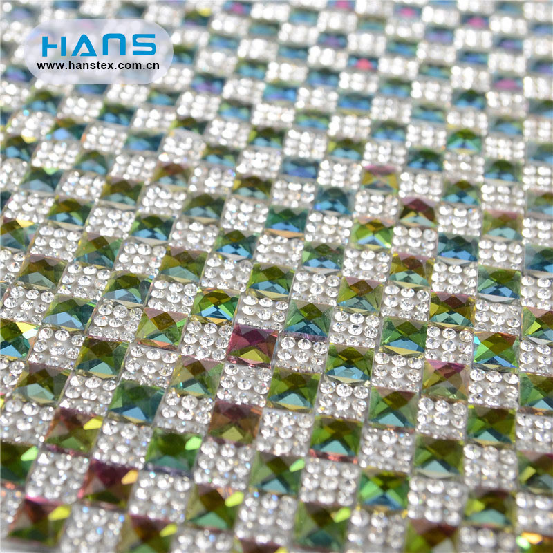 Hans Hot Selling Clean and Flawless Rhinestone Sheet for Hot Fix