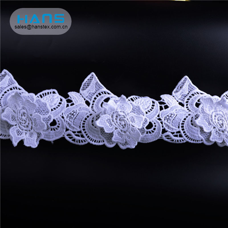 Hans Factory Directly Sell White French Net Lace