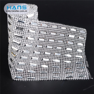 Hans Online Auction Hole Crystal Mesh Fabric Rhinestone