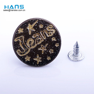Hans Chinese Supplier New Design Jeans Metal Buttons