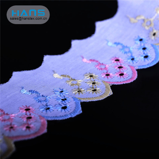 Hans Cheap Price Garment Accessories Embroidery T/C Lace