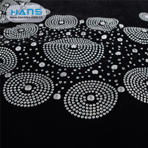 Hans Free Design Fashionable Rhinestone Iron on Transfer