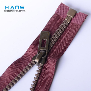 Hans Excellent Quality and Reasonable Price Eco Friendly 5#Resin Zipper