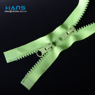 Hans Example of Standardized OEM Strong Molded Plastic Zipper