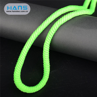 Hans Factory Price Weave Flat Drawstring Cord