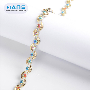 Hans Hot Selling Transparent Rhinestone Trimming for Dress