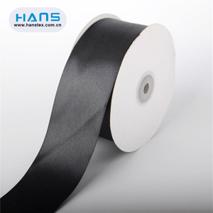 Hans 2019 Hot Sale High Grade Black Satin Ribbon
