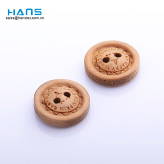 Hans Fashion Sewing 2 Holes Wood Buttons