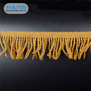 Hans Factory Direct Sale Soft Multicolor Tassel Trim