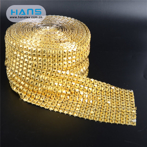Hans Manufacturers Wholesale New Design Crystal Rhinestone Mesh