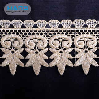Hans Directly Sell Colorful Orange Lace Embroidery Fabric