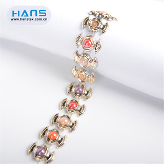 Hans OEM Customized Transparent Wholesale Rhinestone Chain